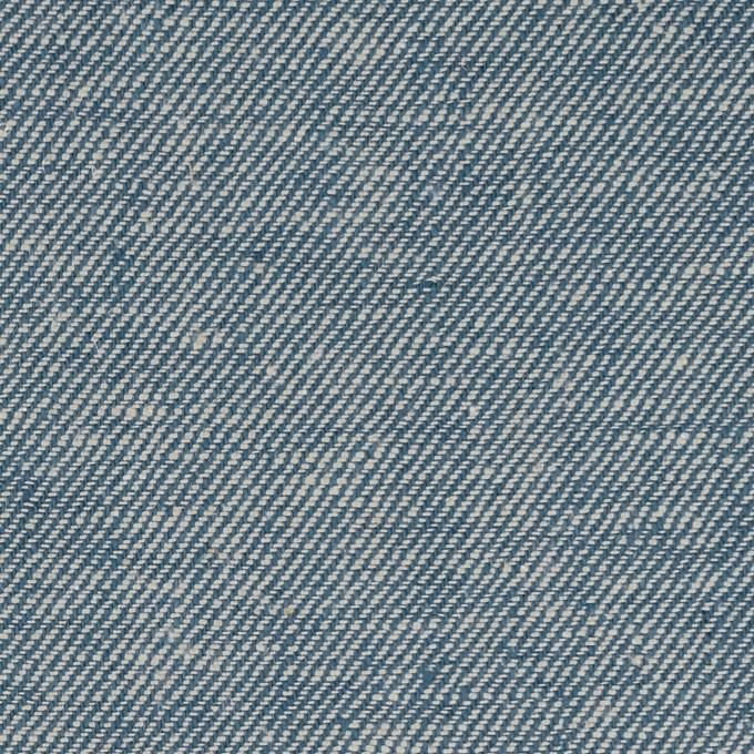 リネン&コットン×無地(サックス)×サージ_全2色 イメージ1