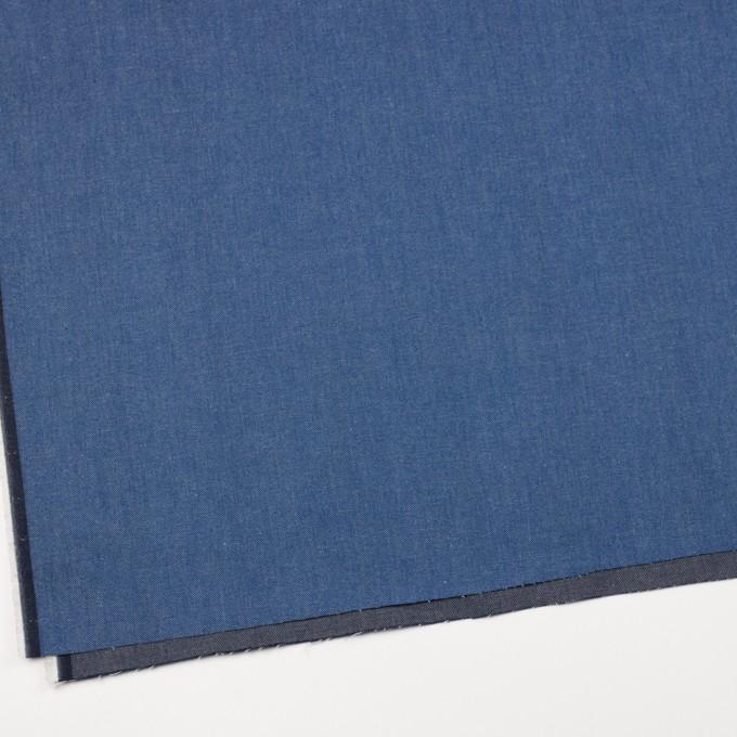 コットン&ポリウレタン×無地(ブルー&インディゴ)×Wフェイスデニムストレッチ イメージ2