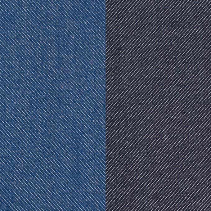 コットン&ポリウレタン×無地(ブルー&インディゴ)×Wフェイスデニムストレッチ イメージ1