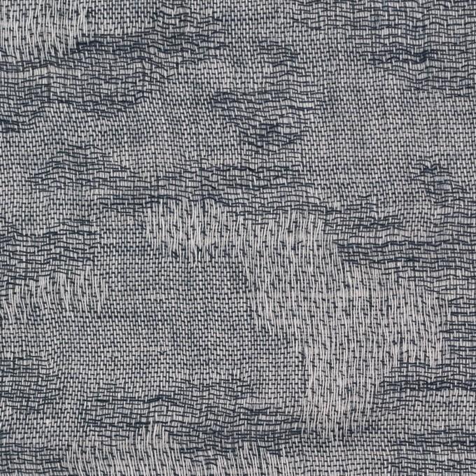 コットン×幾何学模様(アイアンネイビー)×ジャガード&ガーゼ_全2色 イメージ1