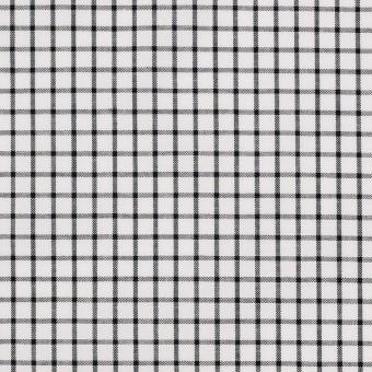 コットン×チェック(ブラック)×ブロード_全2色