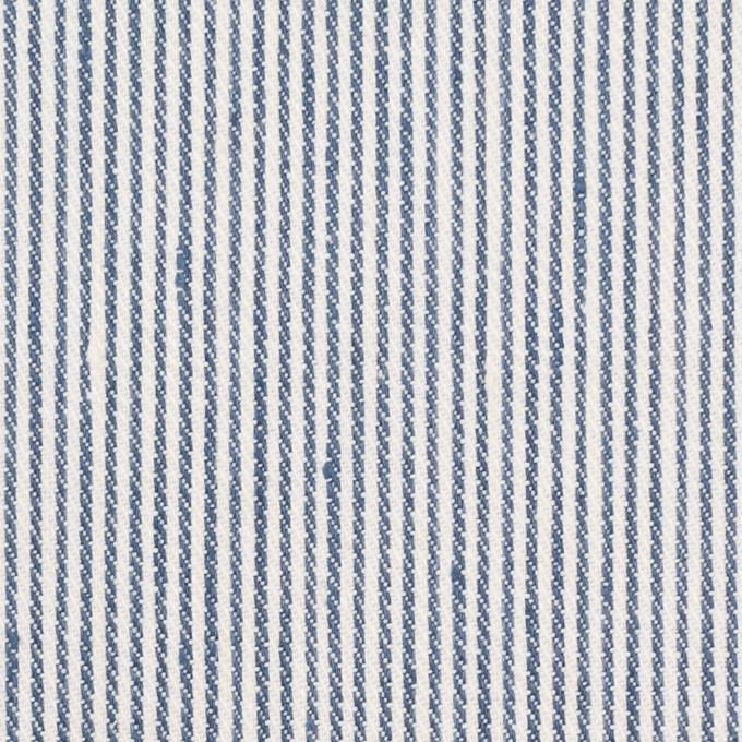 リネン&コットン×ストライプ(アッシュブルー)×サージ イメージ1