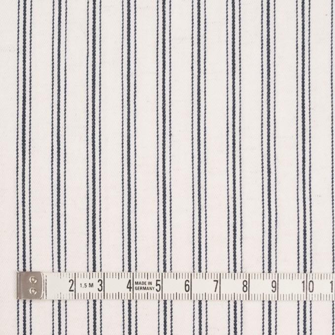 コットン&リネン×ストライプ(アイボリー&ダークネイビー)×ジャガード イメージ4