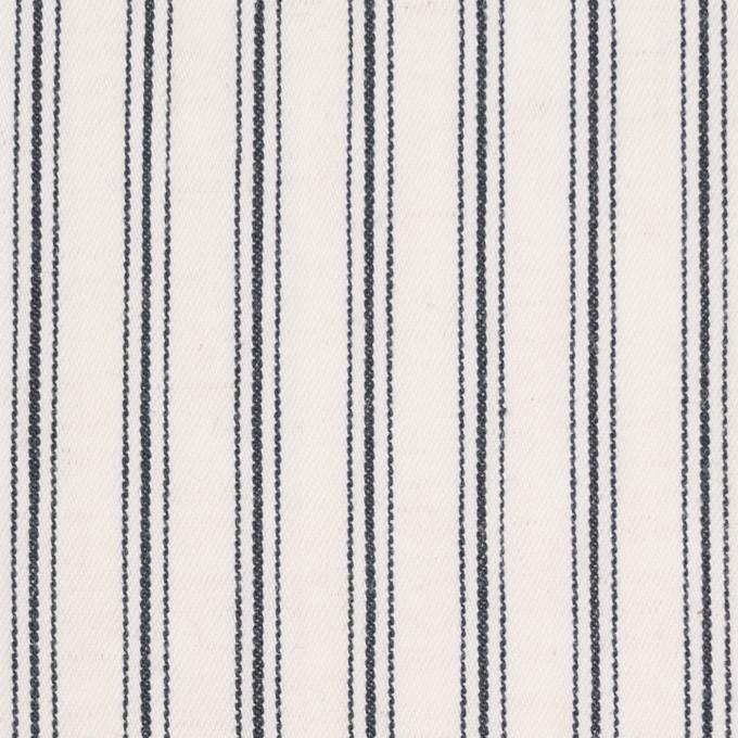 コットン&リネン×ストライプ(アイボリー&ダークネイビー)×ジャガード イメージ1