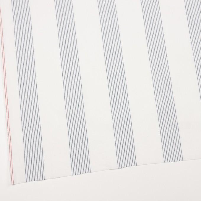 コットン&リネン×ストライプ(オフホワイト)×シーチング_全2色 イメージ2