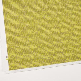 コットン&ポリウレタン×幾何学模様(ライム&カーキベージュ)×チノクロス・ストレッチ サムネイル2