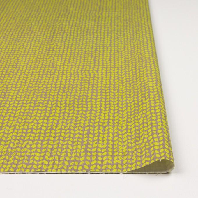 コットン&ポリウレタン×幾何学模様(ライム&カーキベージュ)×チノクロス・ストレッチ イメージ3