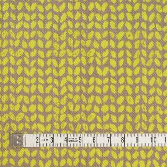 コットン&ポリウレタン×幾何学模様(ライム&カーキベージュ)×チノクロス・ストレッチ サムネイル4