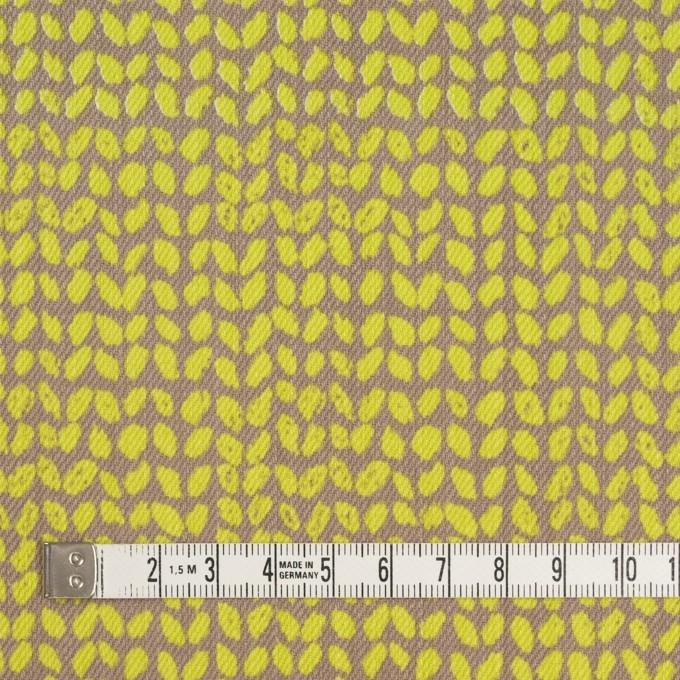 コットン&ポリウレタン×幾何学模様(ライム&カーキベージュ)×チノクロス・ストレッチ イメージ4