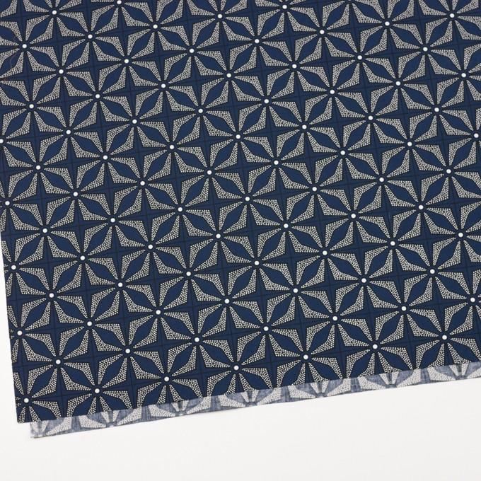 コットン×幾何学模様(ネイビー)×ブロード イメージ2