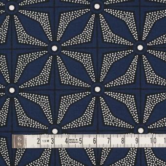 コットン×幾何学模様(ネイビー)×ブロード サムネイル4