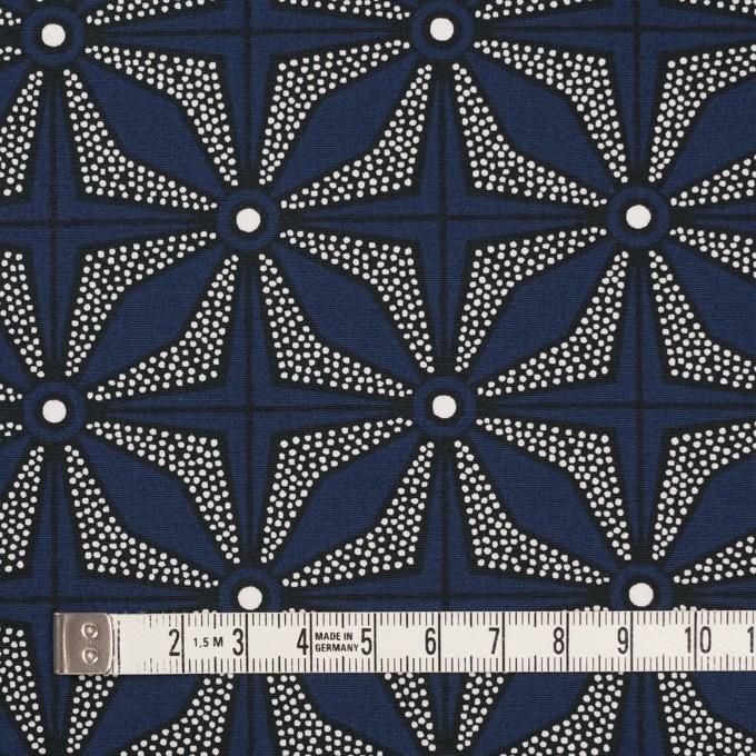 コットン×幾何学模様(ネイビー)×ブロード イメージ4