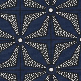 コットン×幾何学模様(ネイビー)×ブロード