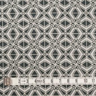 ポリエステル&コットン×幾何学模様(チャコール)×サージ_全2色 サムネイル4
