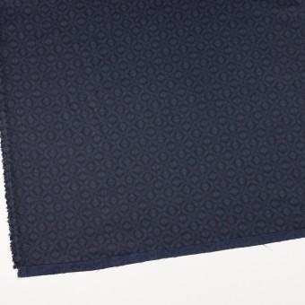 ポリエステル&コットン×幾何学模様(ネイビー)×サージ_全2色 サムネイル2