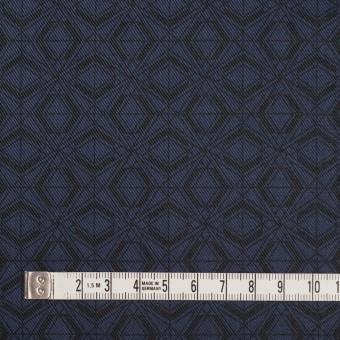 ポリエステル&コットン×幾何学模様(ネイビー)×サージ_全2色 サムネイル4