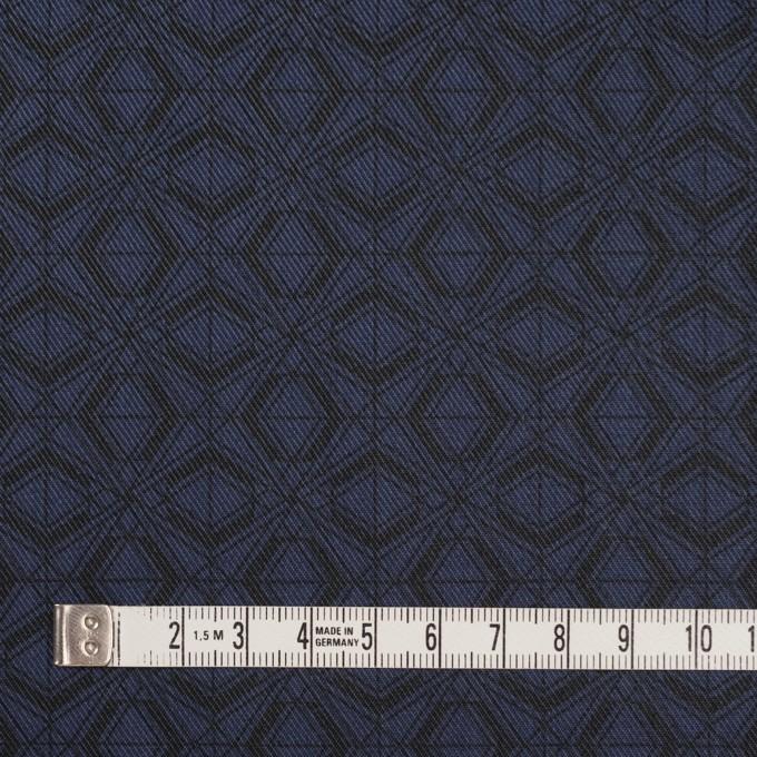 ポリエステル&コットン×幾何学模様(ネイビー)×サージ_全2色 イメージ4