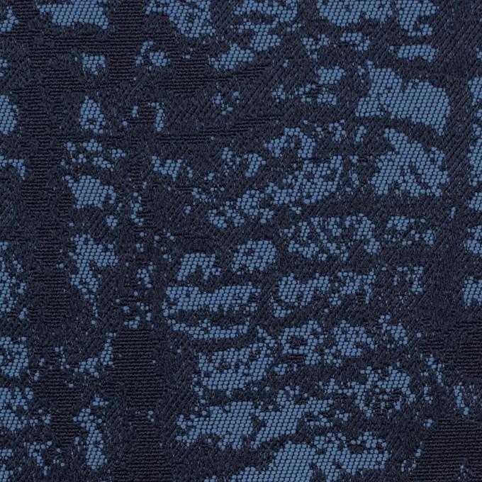 コットン&ポリエステル×幾何学模様(ブルーグレー)×ジャガード_全2色 イメージ1