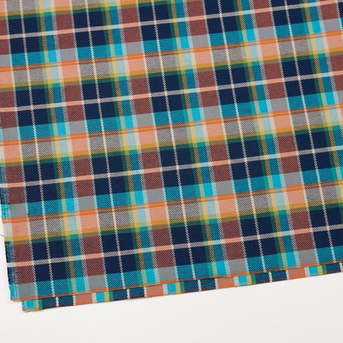 コットン×チェック(マルチ)×斜子織 イメージ2