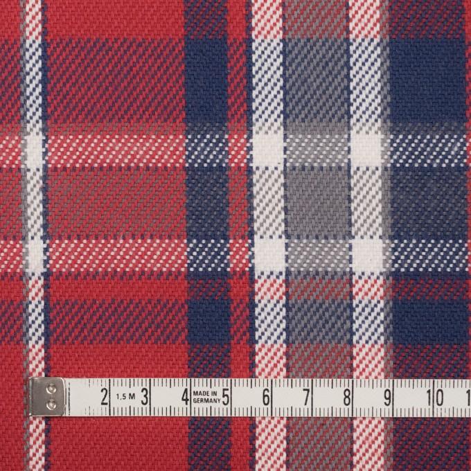 コットン×チェック(レッド、ネイビー&グレー)×斜子織 イメージ4