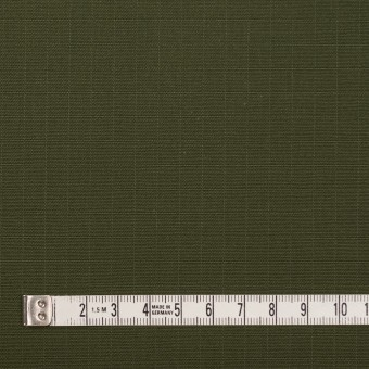 コットン×無地(カーキグリーン)×リップストップ サムネイル4