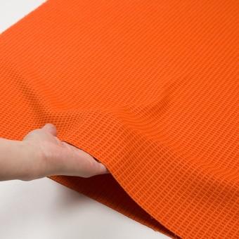 コットン&ナイロン×無地(オレンジ)×斜子織_全2色_イタリア製 サムネイル5