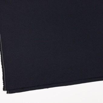 コットン&ナイロン×無地(ダークネイビー)×斜子織_イタリア製 サムネイル2