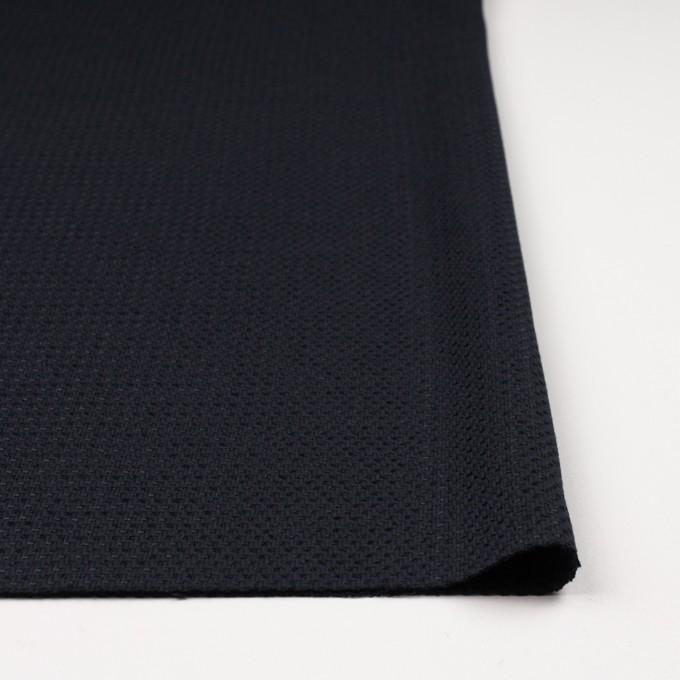 コットン&ナイロン×無地(ダークネイビー)×斜子織_イタリア製 イメージ3