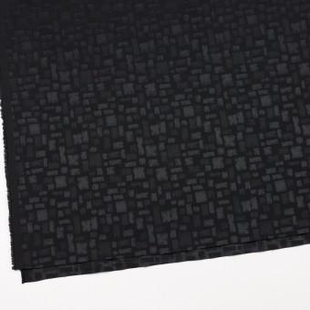 ポリエステル&コットン混×幾何学模様(ブラック)×サテンジャガード・ストレッチ サムネイル2