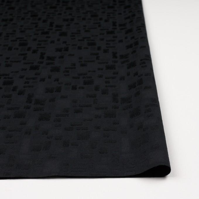ポリエステル&コットン混×幾何学模様(ブラック)×サテンジャガード・ストレッチ イメージ3