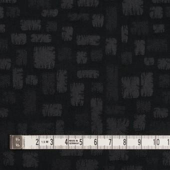 ポリエステル&コットン混×幾何学模様(ブラック)×サテンジャガード・ストレッチ サムネイル4