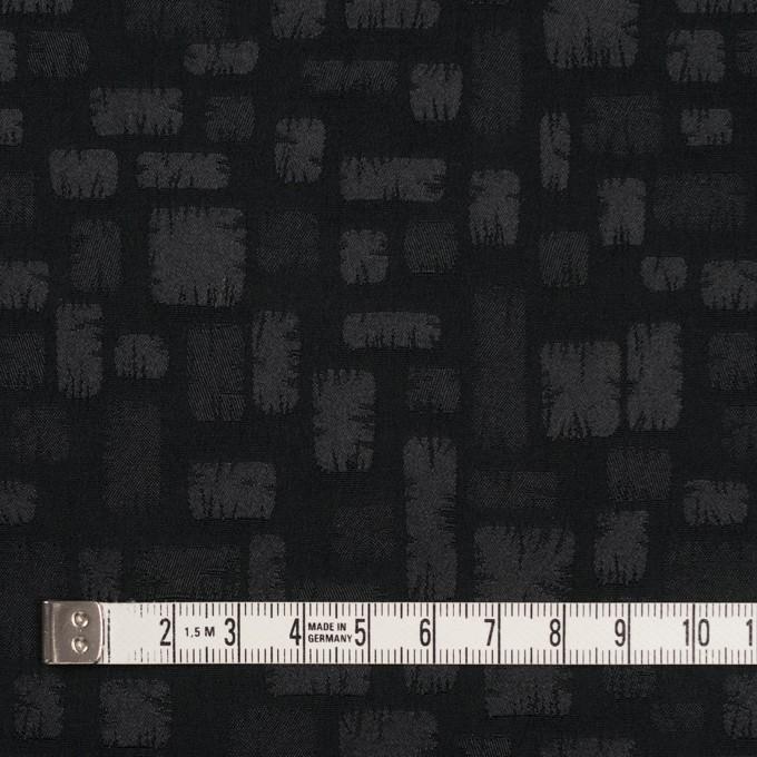 ポリエステル&コットン混×幾何学模様(ブラック)×サテンジャガード・ストレッチ イメージ4