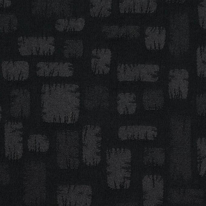 ポリエステル&コットン混×幾何学模様(ブラック)×サテンジャガード・ストレッチ イメージ1