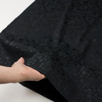 ポリエステル&コットン混×幾何学模様(ブラック)×サテンジャガード・ストレッチ サムネイル5