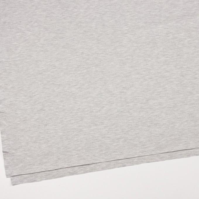 コットン&テンセル混×無地(シルバーグレー)×スムースニット イメージ2