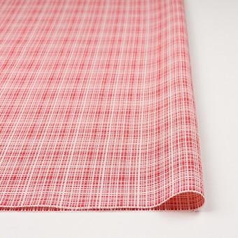 コットン&レーヨン×ミックス(レッド&オフホワイト)×斜子織_イタリア製 サムネイル3