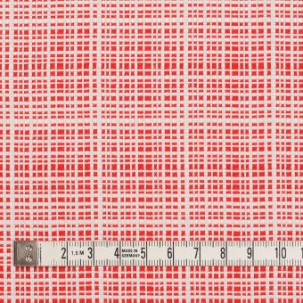 コットン&レーヨン×ミックス(レッド&オフホワイト)×斜子織_イタリア製 サムネイル4