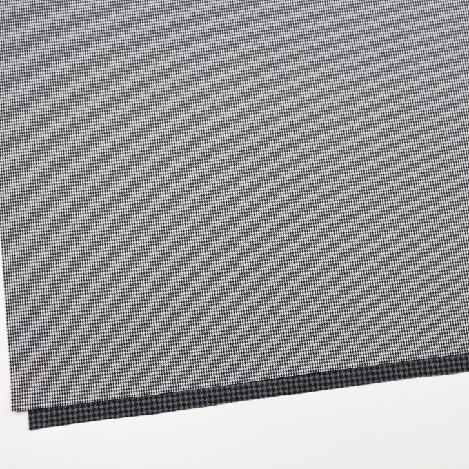 コットン&ポリエステル×チェック(ブラック&ホワイト)×千鳥格子&ローン(ボンディング) イメージ2