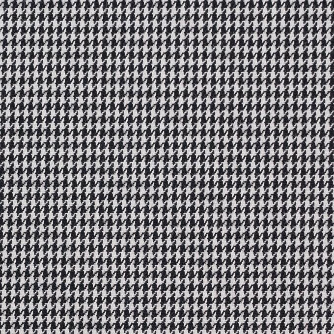 コットン&ポリエステル×チェック(ブラック&ホワイト)×千鳥格子&ローン(ボンディング) イメージ1