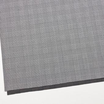 コットン&ポリエステル×チェック(ブラック&ホワイト)×かわり織&ローン(ボンディング) サムネイル2