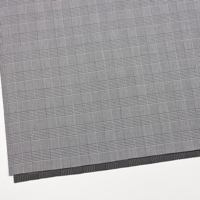 コットン&ポリエステル×チェック(ブラック&ホワイト)×かわり織&ローン(ボンディング) イメージ2