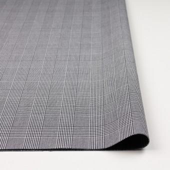コットン&ポリエステル×チェック(ブラック&ホワイト)×かわり織&ローン(ボンディング) サムネイル3