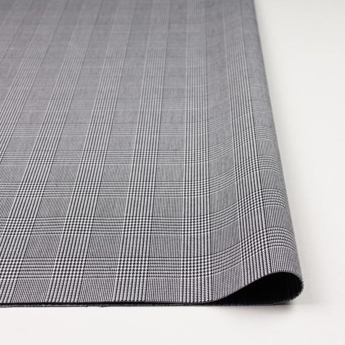 コットン&ポリエステル×チェック(ブラック&ホワイト)×かわり織&ローン(ボンディング) イメージ3