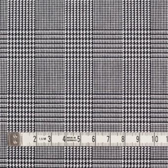 コットン&ポリエステル×チェック(ブラック&ホワイト)×かわり織&ローン(ボンディング) サムネイル4