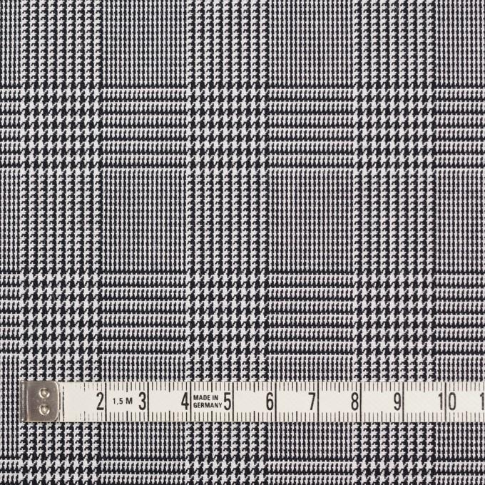 コットン&ポリエステル×チェック(ブラック&ホワイト)×かわり織&ローン(ボンディング) イメージ4