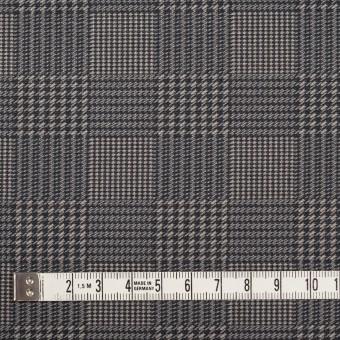 コットン&ポリエステル×チェック(ブラック&ホワイト)×かわり織&ローン(ボンディング) サムネイル5