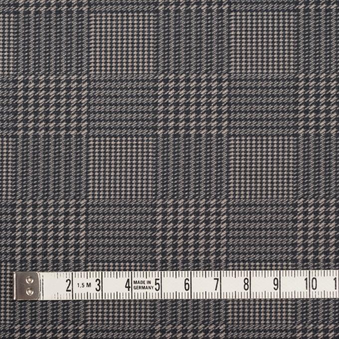コットン&ポリエステル×チェック(ブラック&ホワイト)×かわり織&ローン(ボンディング) イメージ5