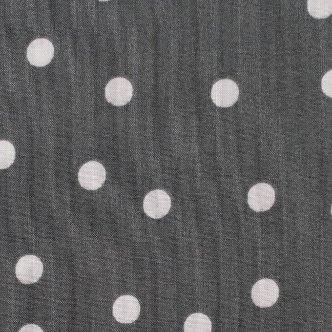 コットン×水玉(スチールグレー&ライトグレー)×ローン_全2色 イメージ1