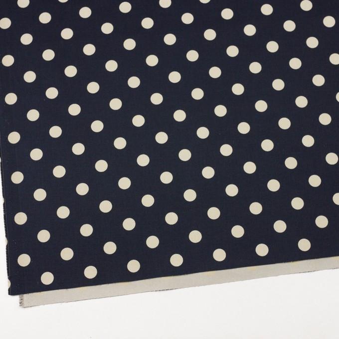 コットン&ポリウレタン×水玉(ダークネイビー&アイボリー)×チノクロス・ストレッチ_全2色 イメージ2