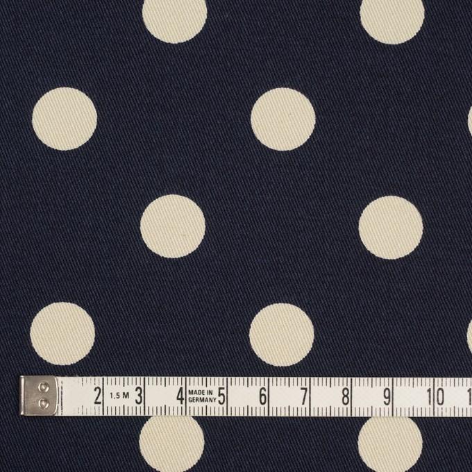コットン&ポリウレタン×水玉(ダークネイビー&アイボリー)×チノクロス・ストレッチ_全2色 イメージ4